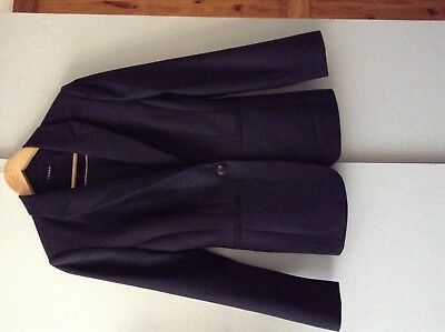 T.M. Lewin Navy Wool Blend Suit Jacket Size 8