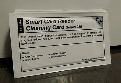 Smart Card Reader Cleaning Card Series 230 (x7 Cards Per Pack)
