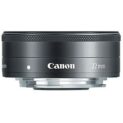 New Canon EF-M 22mm f/2 STM BLACK Lens