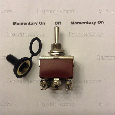 3 Position / Momentary On - Off - Momentary On  Toggle  Switch 8025-TSM 12 Volt