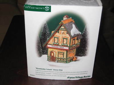 "Dept 56 Alpine Village Series ""Kasenhandler Schmitt"" Cheese Shop #56.56222 MINT"