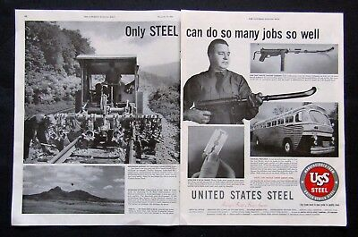 "USS Steel 1952 Print Ad - ""Only Steel Can Do So Many Jobs So Well"""