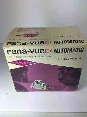 Sawyer's Pana-Vue Automatic Wide Screen 2 x 2 Slide Viewer  Tested
