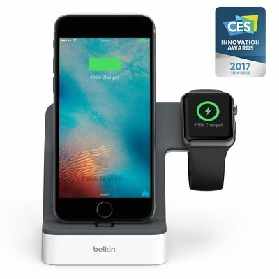 GENUINE Belkin PowerHouse Charge Dock for Apple Watch & iPhone X 8 7 6 6S Plus 5