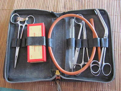 Antique Vintage Surgical Hypodermic Syringe Kit Everhart