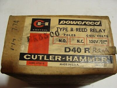 Cutler Hammer D40R R20A Type R Reed Relay D40RR20A New in Box ********