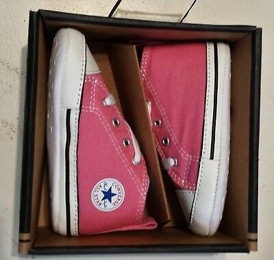 Converse Newborn Crib Pink 88871 All Star Baby Girl Shoes Size 4 NEW