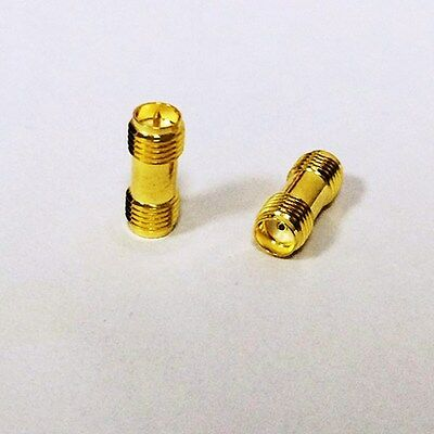 SMA Female to RP SMA Female Straight RF Coaxial Adapter connector UK Seller