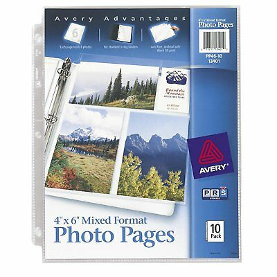 Avery Mixed Format Photo Pages, Acid Free 13401, 12 packs of 10 -120 pgs total