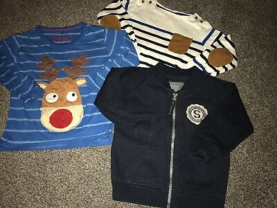 Collection Of Baby Boys Tops Size 18-24 Months