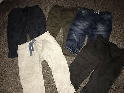 Bundle Of 5 Baby Boys Trousers Size 12-18 Months
