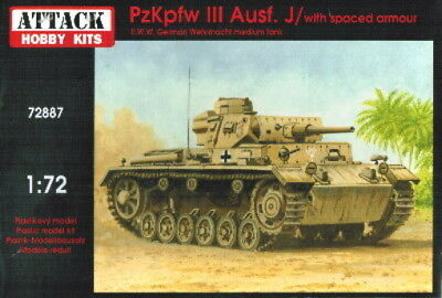 Attack 1/72 Pz.Kpfwg. III Ausf.J with spaced armour (72887)