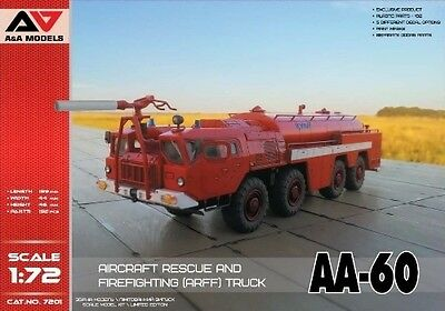 A&A Models 1/72 Aircraft Rescue and Firefighting Truck AA-60 (7201)