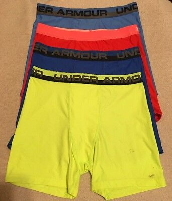 Under Armour Boys Heatgear Boxerjock Briefs...Sz- Youth XL - Lot of 4 - NWD...#3