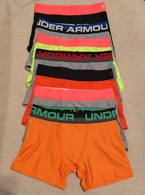 Under Armour Boys Heatgear Boxerjock Briefs...Lot of 7...Sz - Youth Small...#1