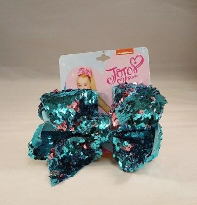 JOJO SIWA Hair Bow Blue & Pink Authentic Girls Bows Cheer Nickelodeon