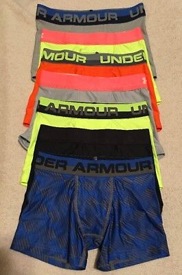Under Armour Boys Heatgear Boxerjock Briefs...Lot of 7...Sz - Youth Small...#2
