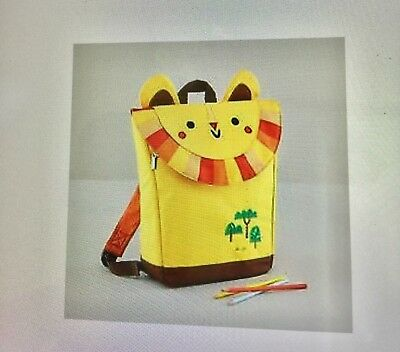 NWT Land Of Nod Lion Backpack Teacher's Pet Kids Boy Girl