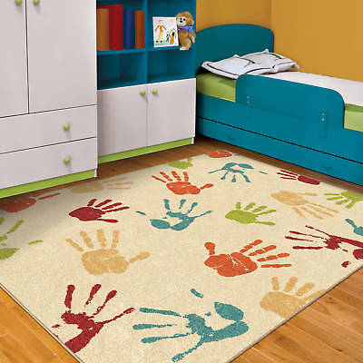 New Kids Rug Handprints Area Bedroom Carpet 5 3