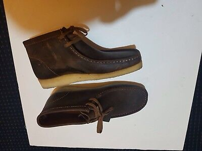 Clarks Brown Leather Wallabees [size 10]