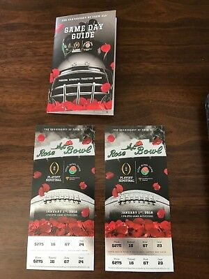 2018 Rose Bowl Tickets - 2 tickets together (Section 16L, Row 67, Seats 23-24)