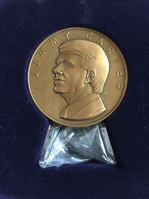 1977 President Jimmy Carter Inaugural Medal Solid Bronze Antique Finish