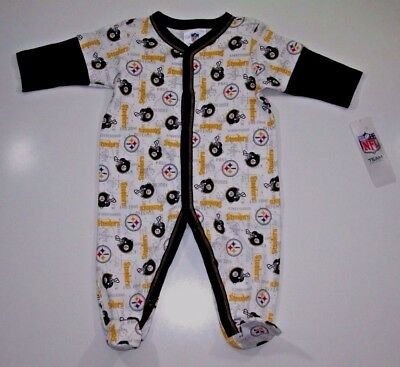 NFL Pittsburgh Steelers Baby Infant Graphic Sleep & Play Footed Bodysuit 3-6