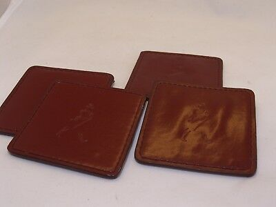 Johnnie Walker Scotch Whisky Promotional Set of 4 Leather Coasters