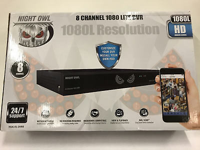 Night Owl 8-Channel Indoor/Outdoor 1080p DVR NVR Security System HDA10L-DVR8