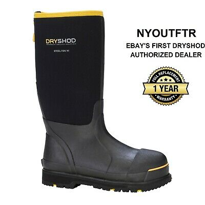"Dryshod Steel Toe Work Boot 15"" Hi Sizes 7-16 Muck Boot Style STT-UH-BK (Unisex)"