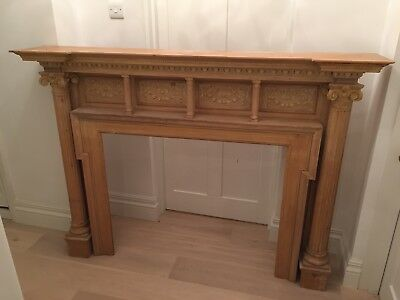 Large and beautiful Georgian Fireplace Surround with carved detailing.