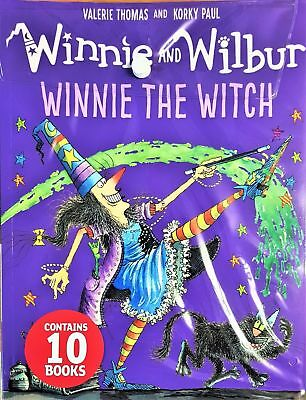 Brand New Winnie The Witch 10 Books Collection Set in Plastic Bag-The Magic Wand