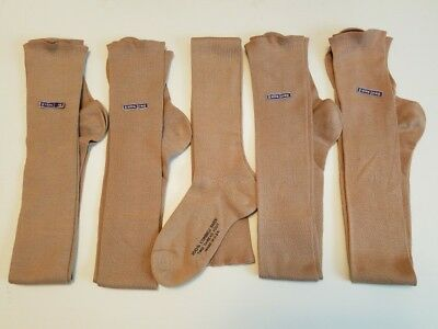 5 NEW pairs 1920s Vintage Children's Extra Long Taupe Brown Stockings Childrens