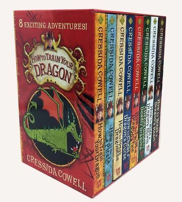 Brand New Hiccup How to Train Your Dragon Collection 8 Books by Cressida Cowell