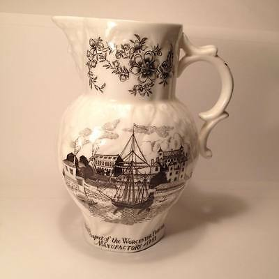 Royal Worcester Bone China Porcelain Bicentenary 1751 - 1951 Pitcher White