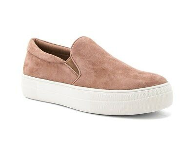 2b215ca0ba7 Steve Madden Gills Mauve Suede Leather Slip-On Sneakers Platform Shoes Size  6.5