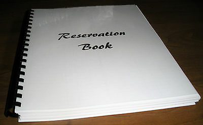 Reservation Book for Restaurant soft cover not dated 150 pages