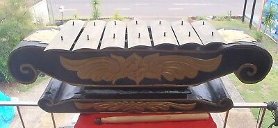HANDMADE&CARVED WOOD XYLOPHONE 7 BRASS KEYS DESIGN PROFESSIONAL PERCUSSION 75cmL