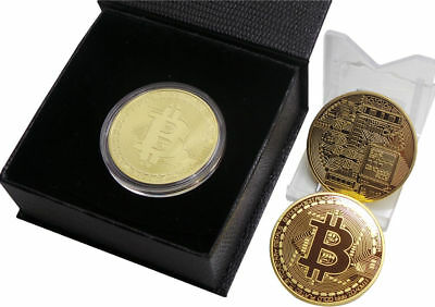 Btc New 1 Oz 24K Rare Gold Plated Btc Bitcoin Commemorative Coin Collectible P&t