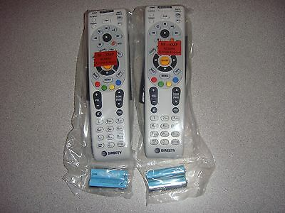 Directv Rc66Rx Lot 2 Ir/rf Two New Remote Control Free Batteries With Att Logo