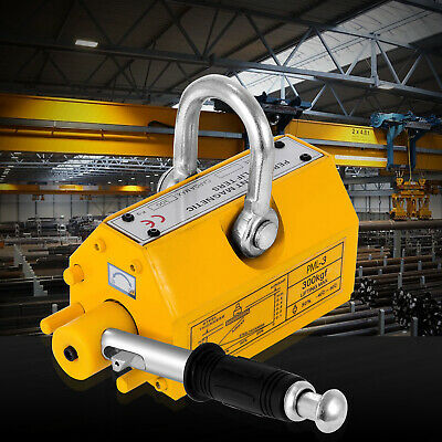 660lb/300KG Steel Magnetic Lifter Heavy Duty Crane Hoist Lifting Magnet US Stock