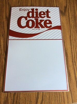 Vintage Enjoy Diet Coke 1983 Dry Erase Board