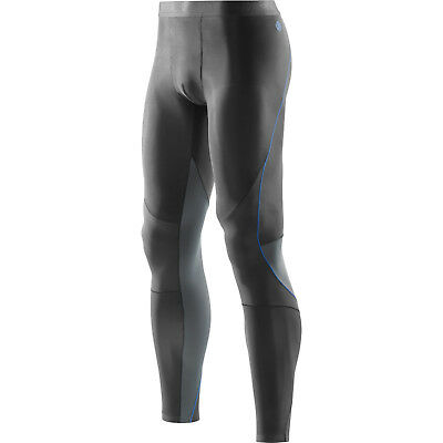 Skins RY400 Men's Recovery Long Tights - Graphite/Blue - Small