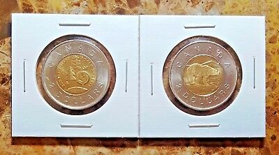 Canada 2011 Regular & Parks Issue Toonies Uncirculated BU From Mint Rolls!!