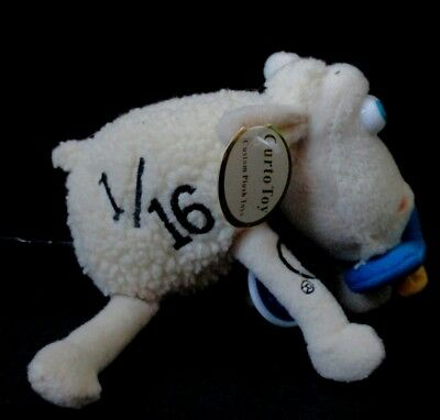 Serta Counting Sheep 1/16 Baby Plush with Pacifier  Advertising Stuffed Toy NWT