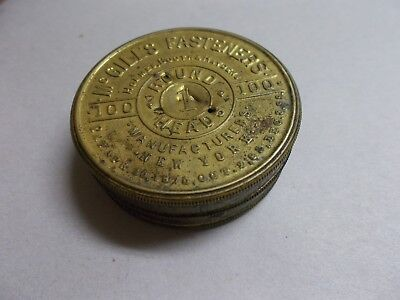 MCGILL'S FASTENERS tin (damage) HOLMES BOOTH HAYDEN N.Y. with some content OLDER