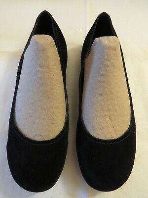 Merrell Avesso Black Suede Leather Ballet Flats In Ec Size 38.5