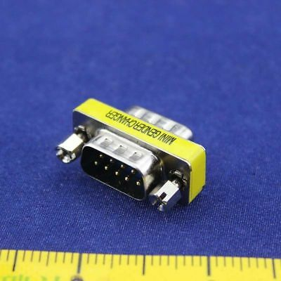 1x DB 25pin Male to DB 9pin Male Port Saver Serial RS-232 Gender Changer Adapter