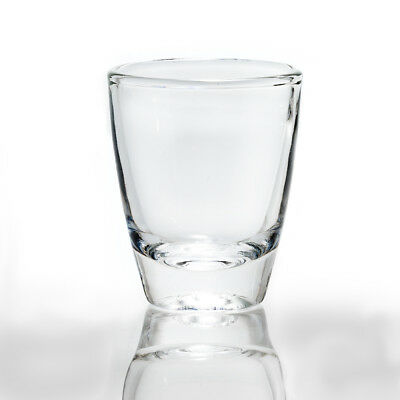 Set of 6 Crystal Clear Shot Glasses (1 oz)   High-Quality Drinking Glasses