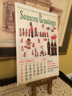 Groovy Vtg 1969 Coca Cola 6 Page Calendar Things Go Better With Coke Soda Pop